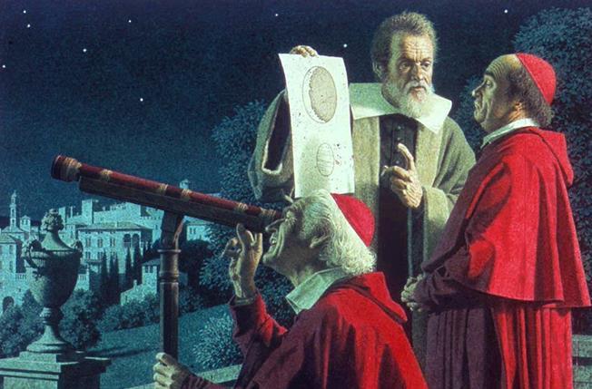 Galileo Galilei, Papa Paul V'e teleskopu gösterdi