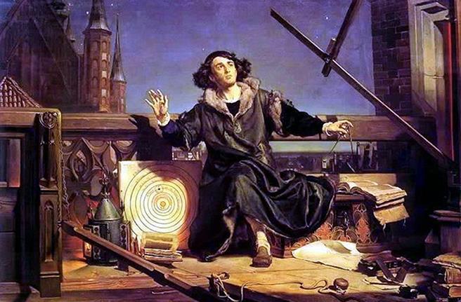 Kopernik. Tanrı ile söyleşi. Sanatçı Jan Matejko