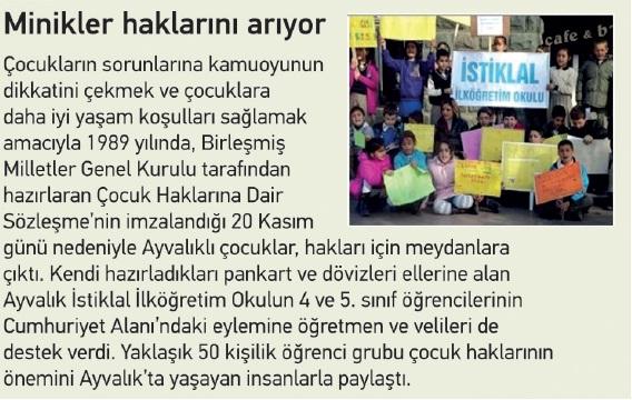 çocuk hakları eylemi